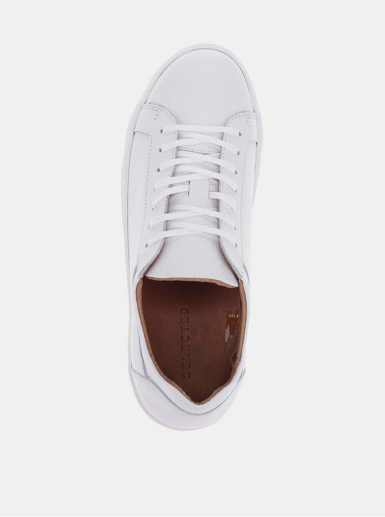 Pantofi sport albi Selected Femme Donna din piele