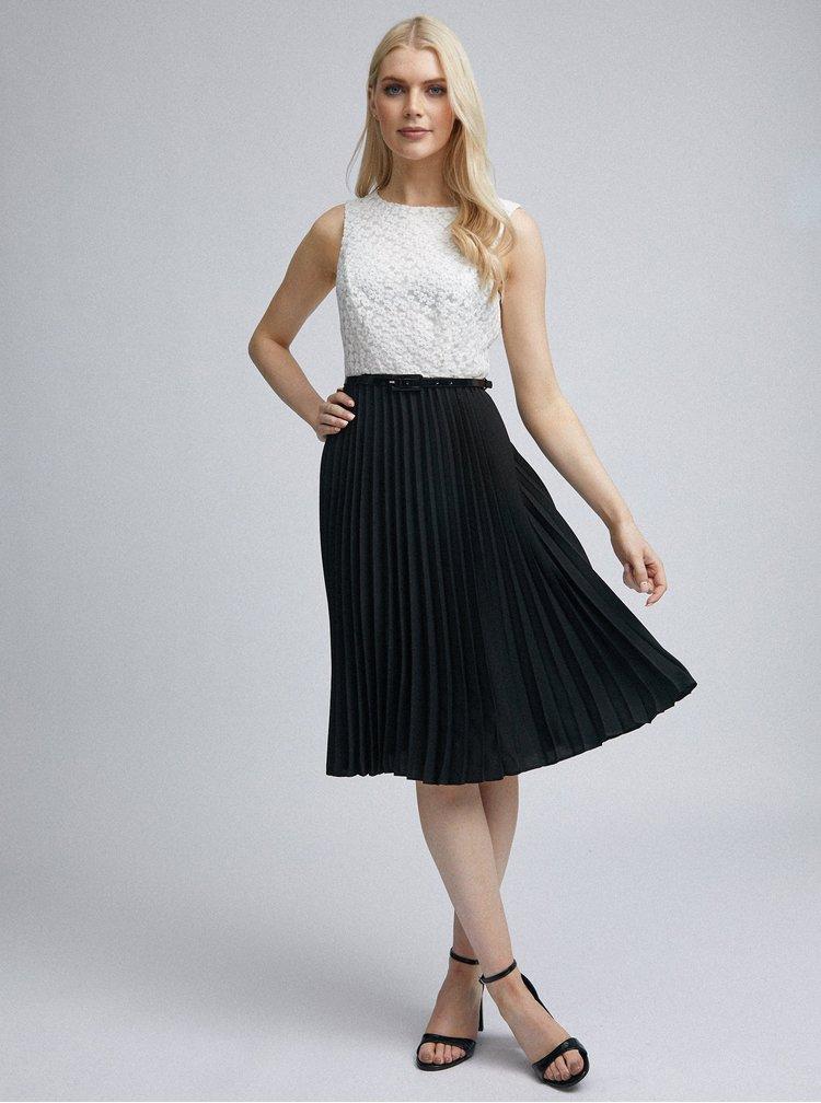 Bílo-černé plisované šaty Dorothy Perkins