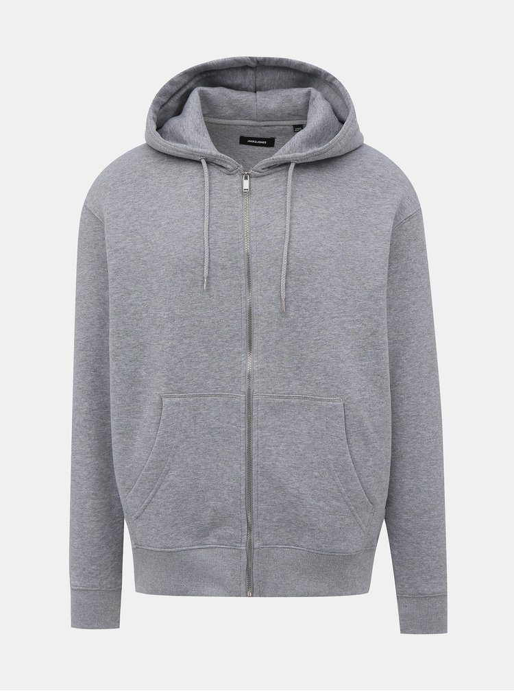 Šedá basic mikina Jack & Jones Soft