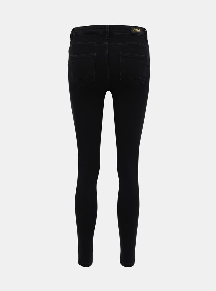 Čierne push up skinny fit rifle ONLY Power