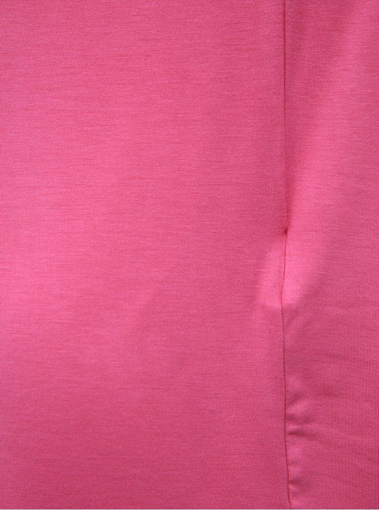 Růžové basic tričko Noisy May Nola