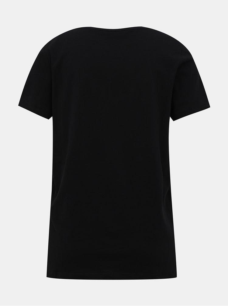 Černé tričko s výšivkou ONLY Kita