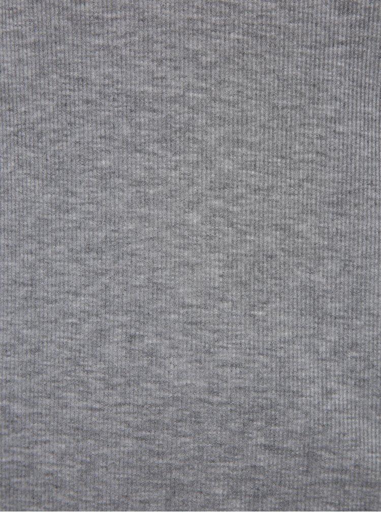 Šedé tričko Noisy May Henley