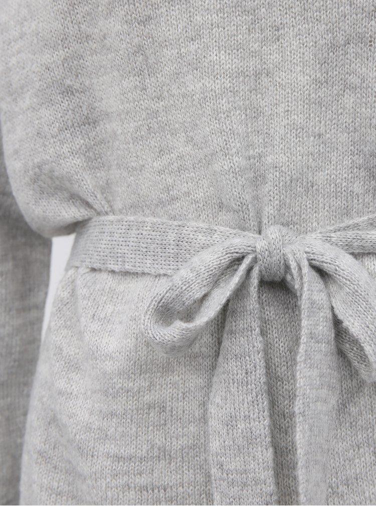 Světle šedé svetrové basic šaty VILA Suril