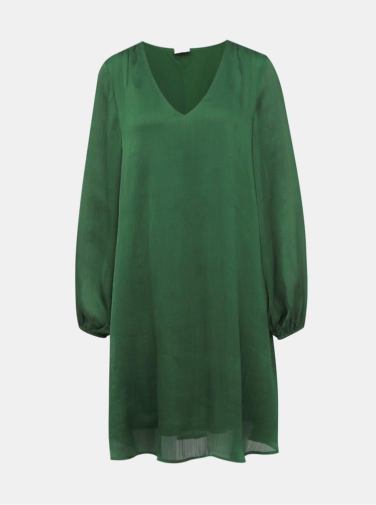 Tmavě zelené šaty VILA Wavey