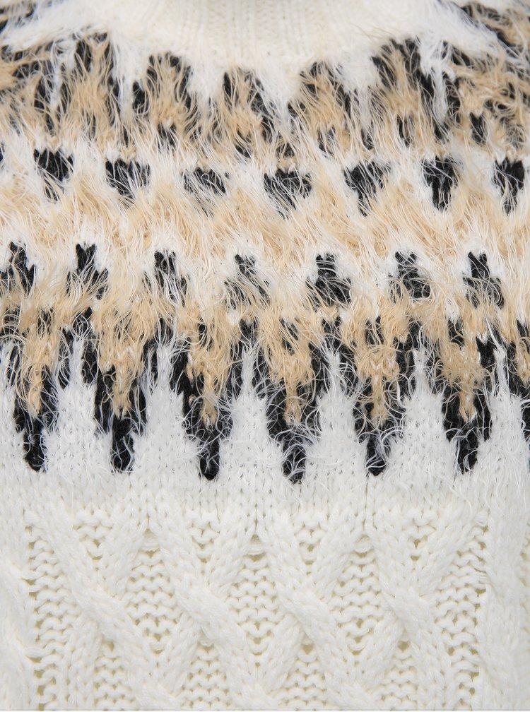 Bílý vzorovaný svetr TALLY WEiJL