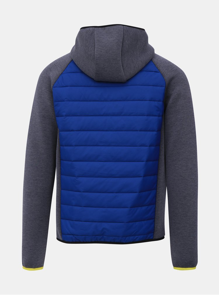 Šedo-modrá prošívaná bunda Jack & Jones Toby