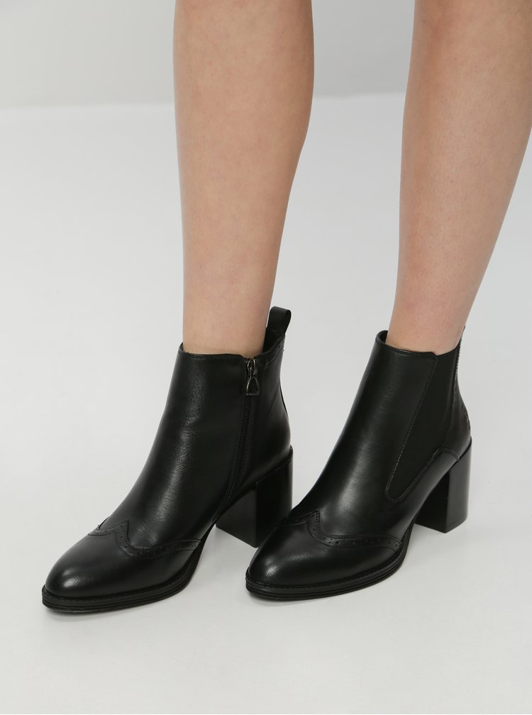 Čierne dámske kožené chelsea topánky U.S. Polo Assn. Adelle
