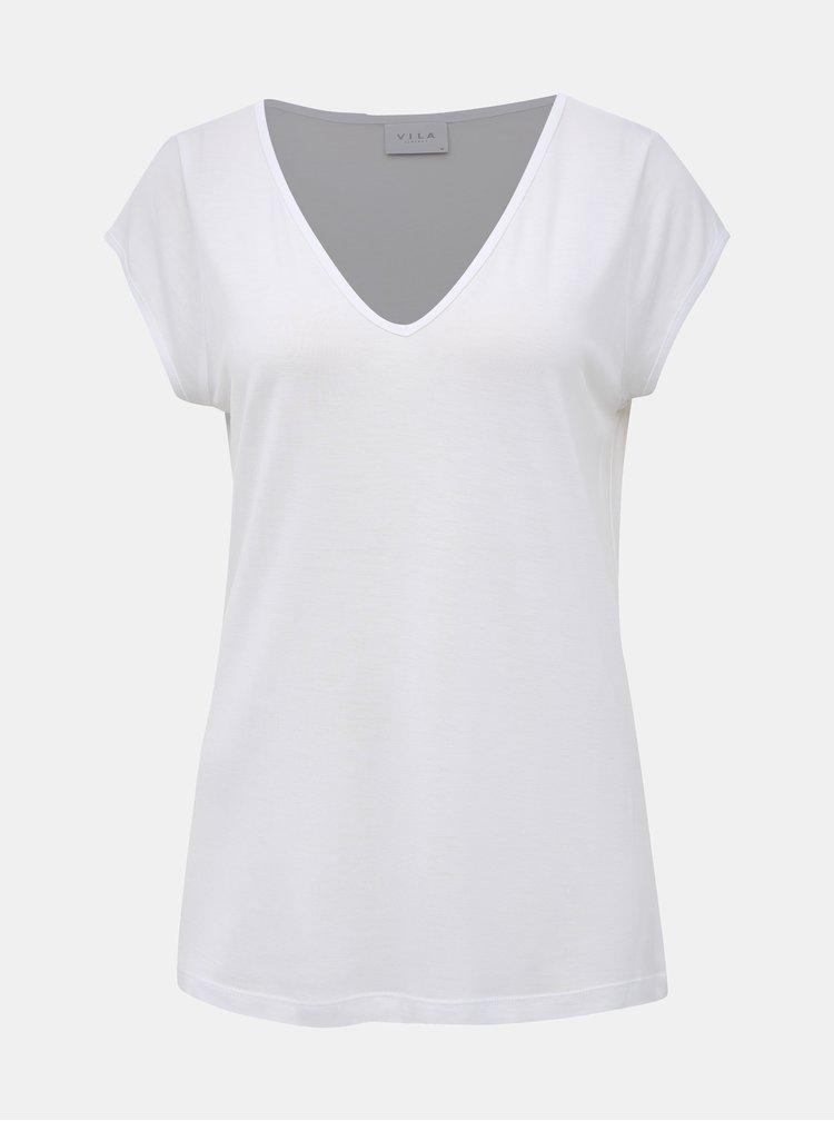 Biele basic tričko VILA Coop