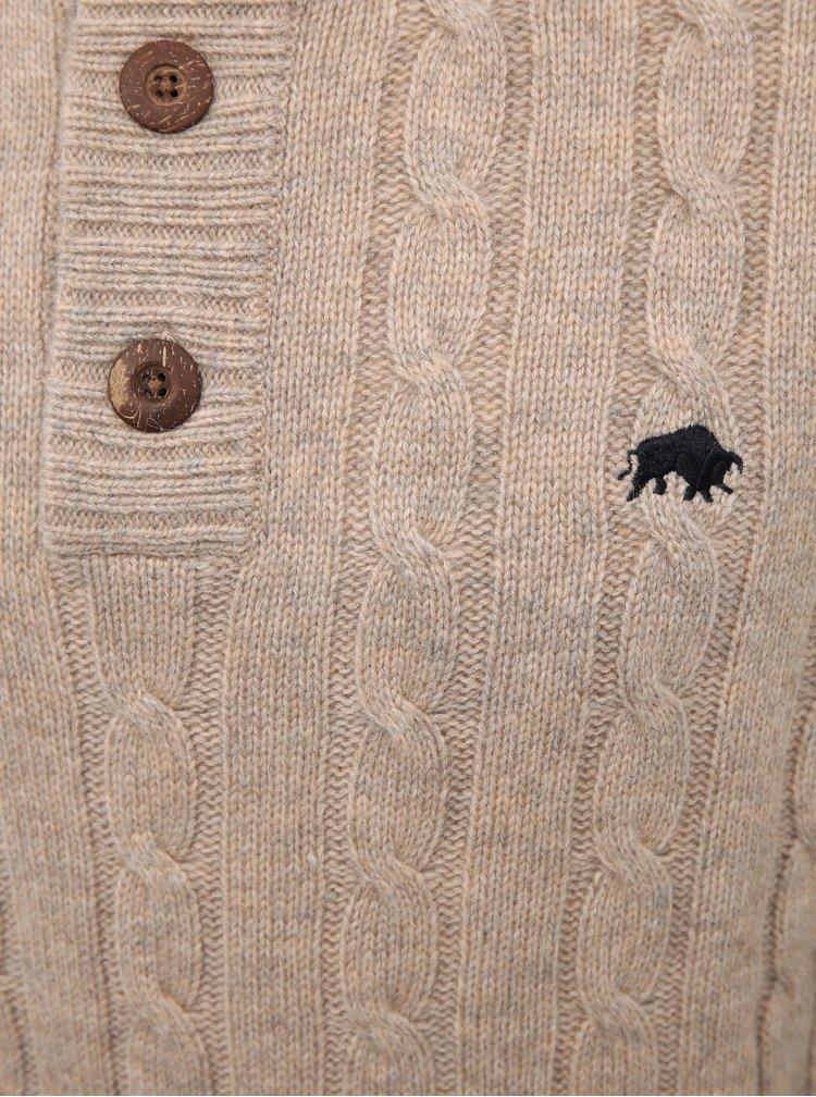 Béžový vlněný svetr Raging Bull
