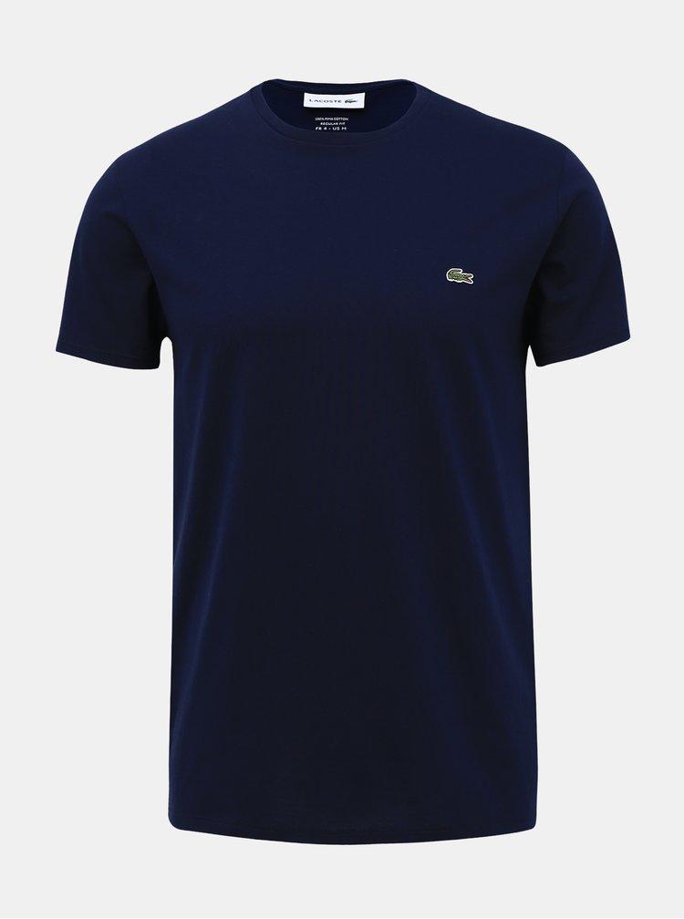 Tmavě modré pánské basic tričko Lacoste