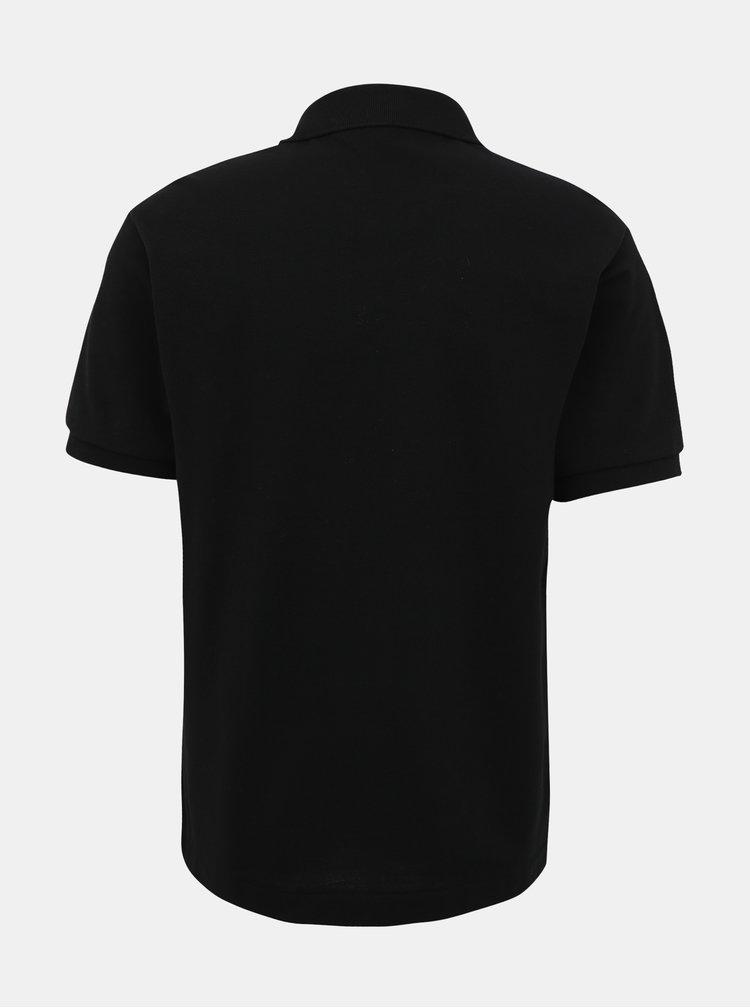 Černé pánské basic polo tričko Lacoste
