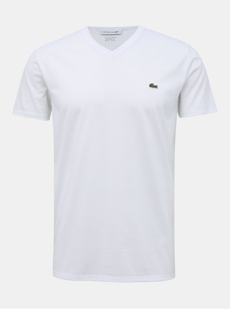 Bílé pánské basic tričko Lacoste