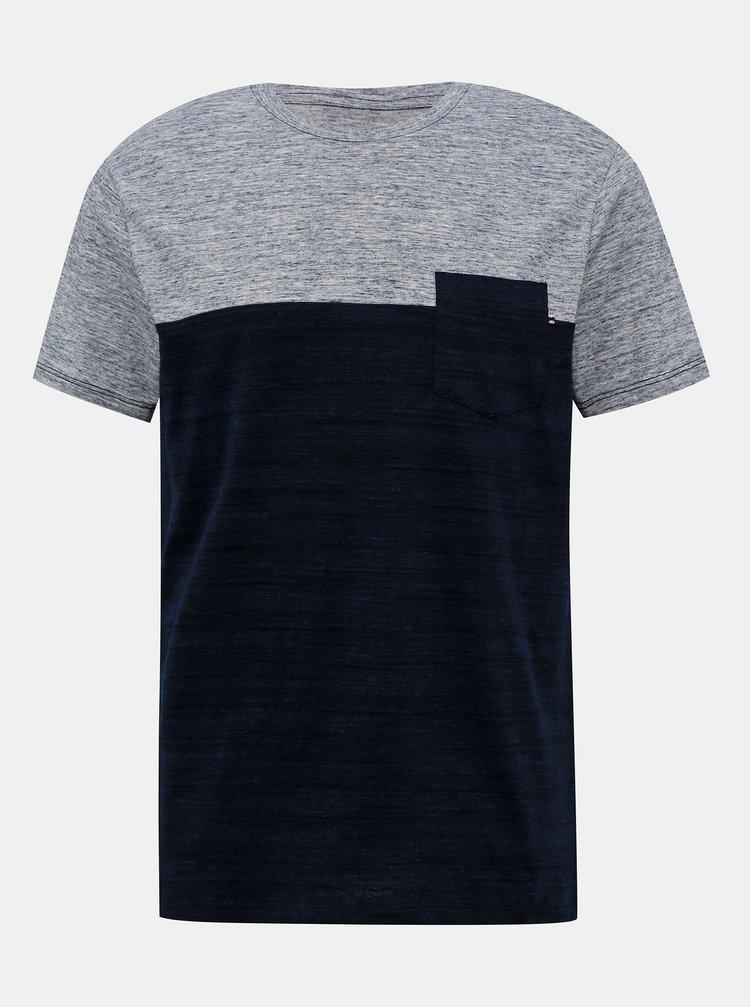 Šedo-modré tričko Jack & Jones Emix