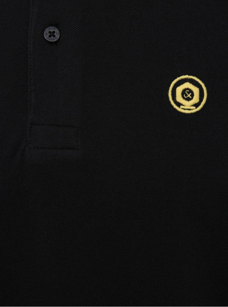 Černé polo tričko Jack & Jones Noah