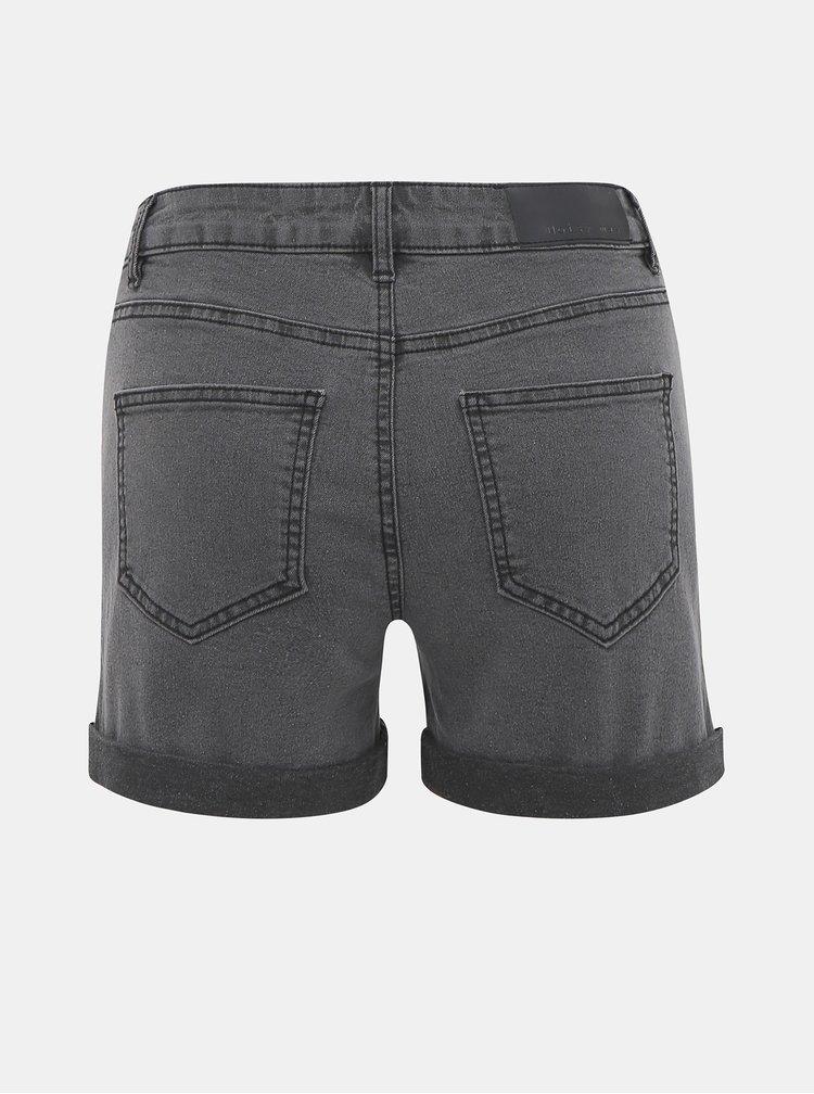 Pantaloni scurti  pentru femei Noisy May - gri