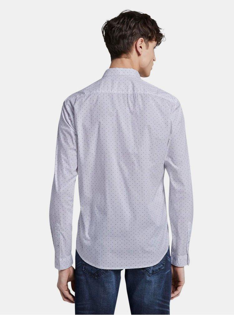 Bílá vzorovaná pánská košile Tom Tailor Denim