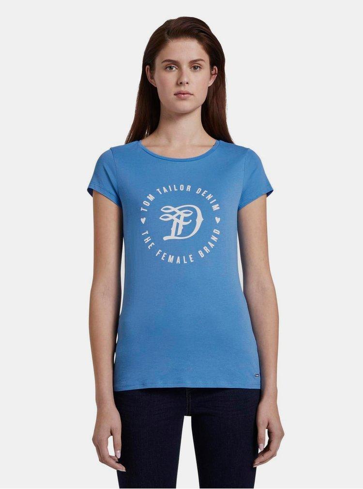 Modré dámské tričko s potiskem Tom Tailor Denim