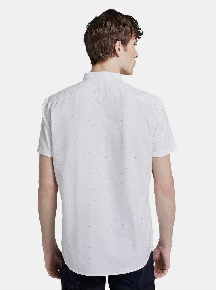 Biela vzorovaná pánska košeľa Tom Tailor Denim