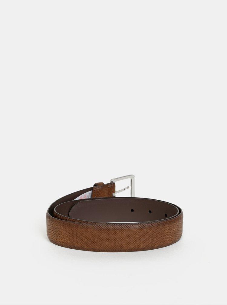 Hnědý kožený pásek Burton Menswear London