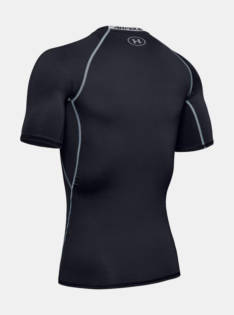 Šedo-černé pánské funkční tričko s krátkým rukávem Under Armour