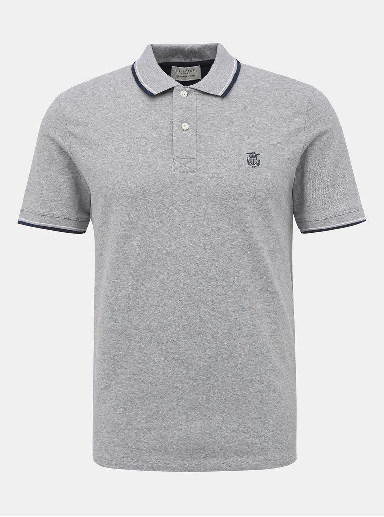 Světle šedé polo tričko Selected Homme New Season