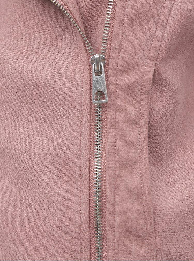Růžový křivák v semišové úpravě Jacqueline de Yong Peach