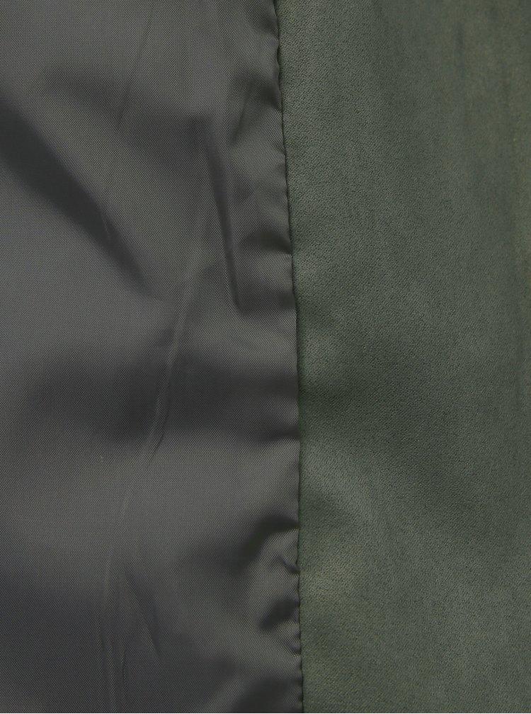 Zelený křivák v semišové úpravě Jacqueline de Yong Peach