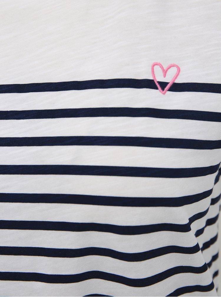Bílé dámské pruhované tričko Tom Tailor Denim