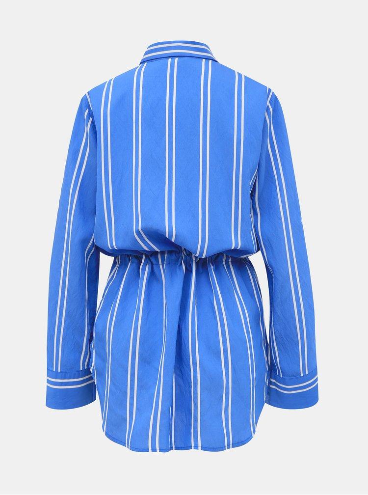 Modrá dámská pruhovaná košile Tom Tailor Denim