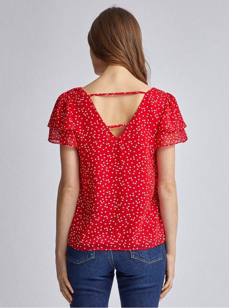Červená vzorovaná halenka Dorothy Perkins