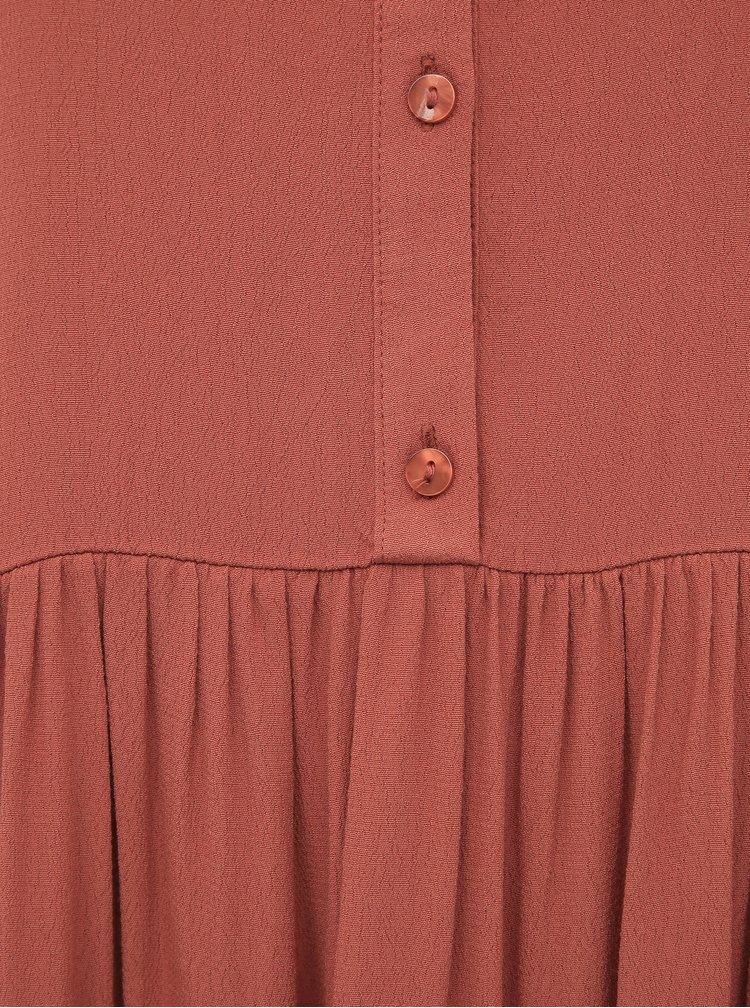 Rochii casual pentru femei Tom Tailor Denim - caramiziu