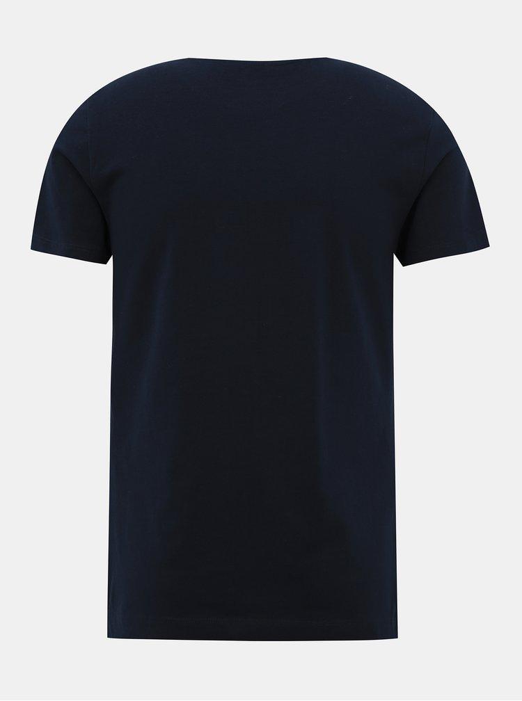 Tmavě modré pánské basic tričko Tom Tailor