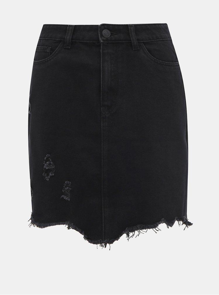 Čierna rifľová sukňa Noisy May Mila