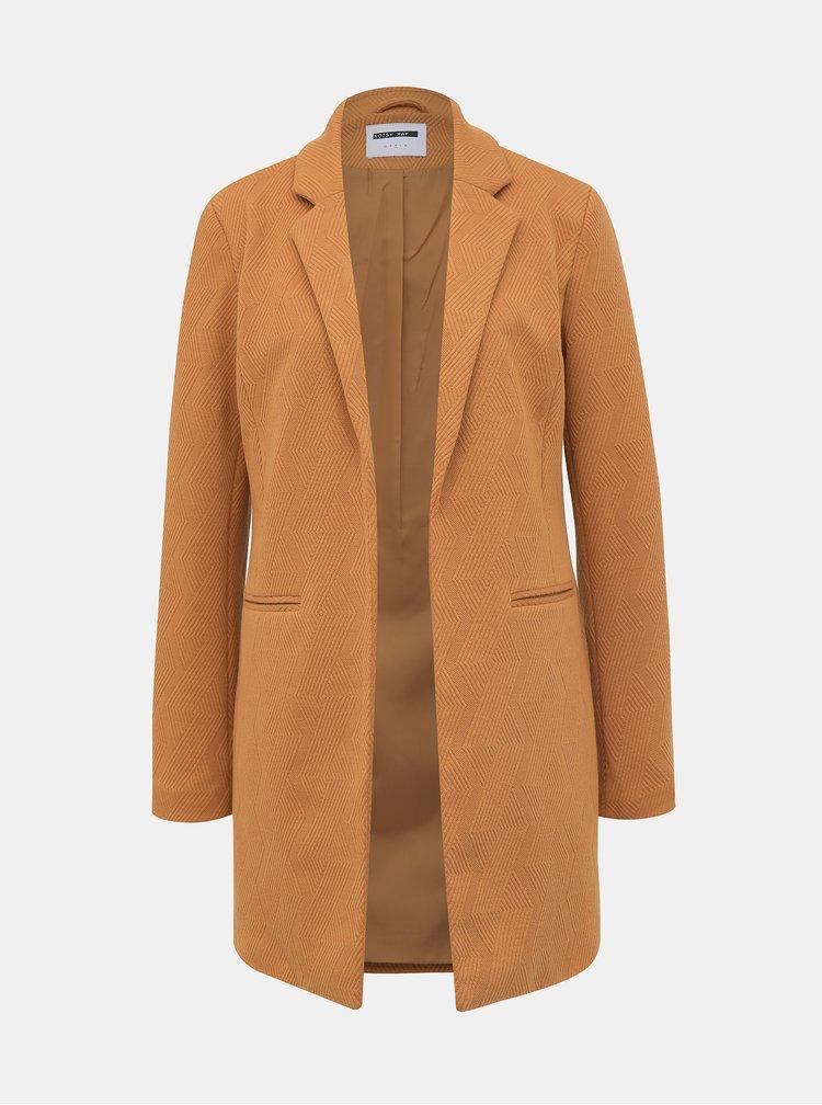 Světle hnědý lehký kabát Noisy May Coatigan