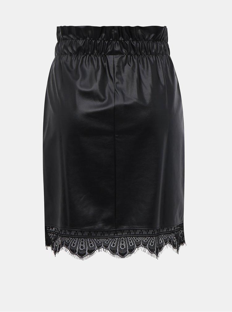 Černá koženková sukně Noisy May Merta