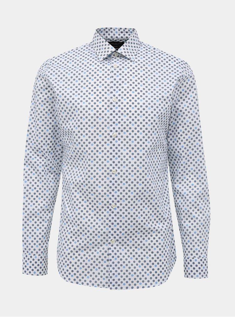 Modro-bílá vzorovaná slim fit košile Selected Homme Marvin