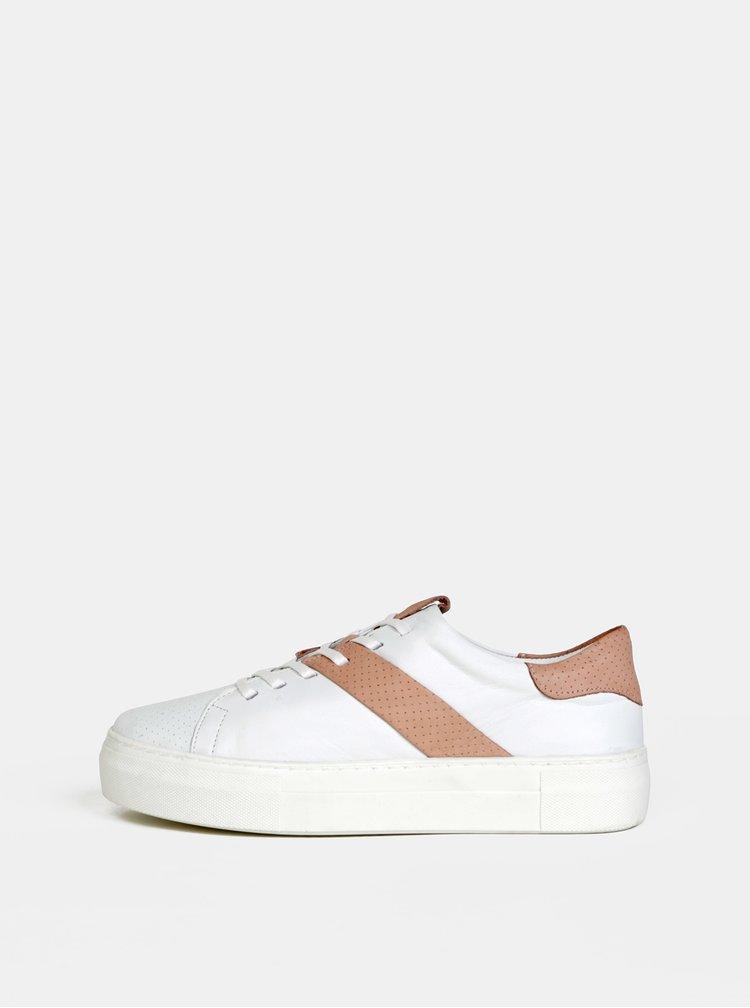 Bílé dámské kožené tenisky WILD