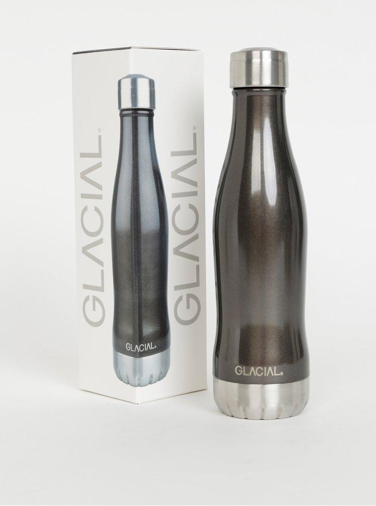 Čierna metalická fľaša GLACIAL Metalic 400 ml