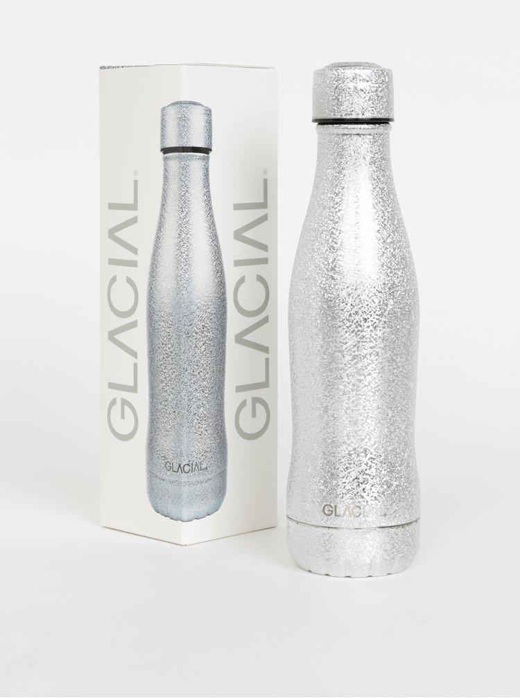 Fľaša v striebornej farbe GLACIAL Fantasy 400 ml