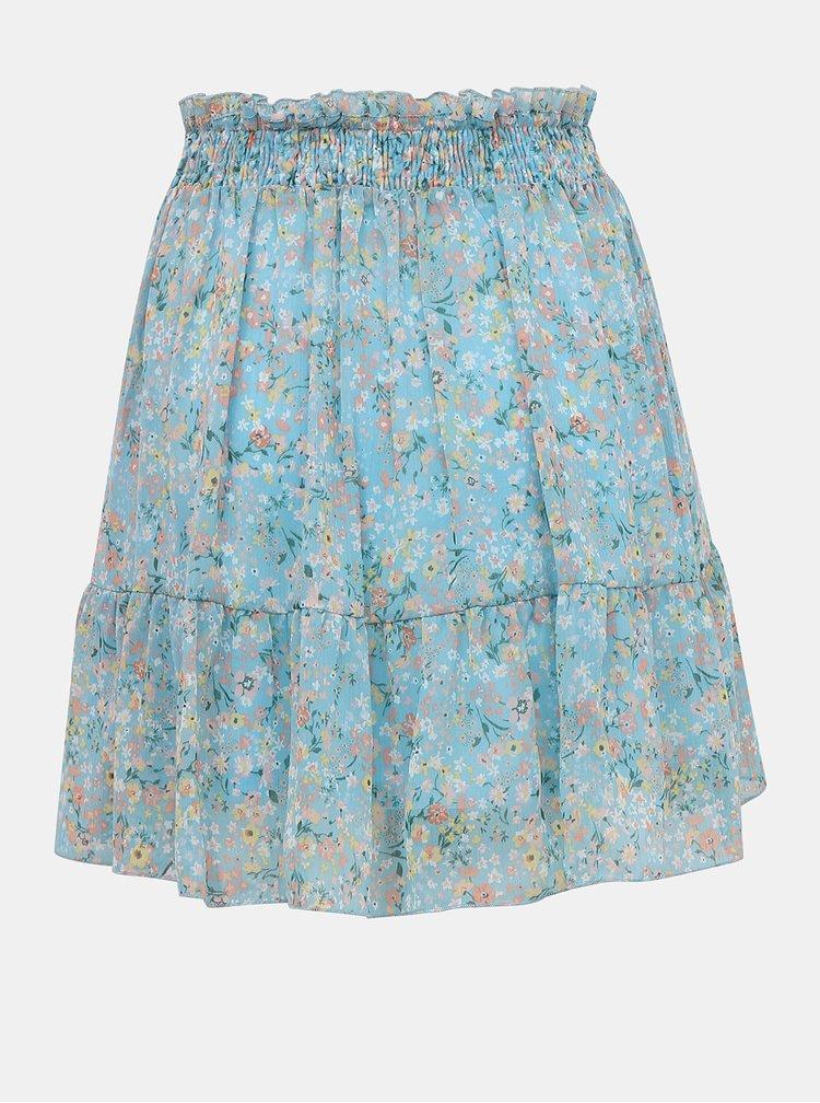 Modrá květovaná sukně TALLY WEiJL