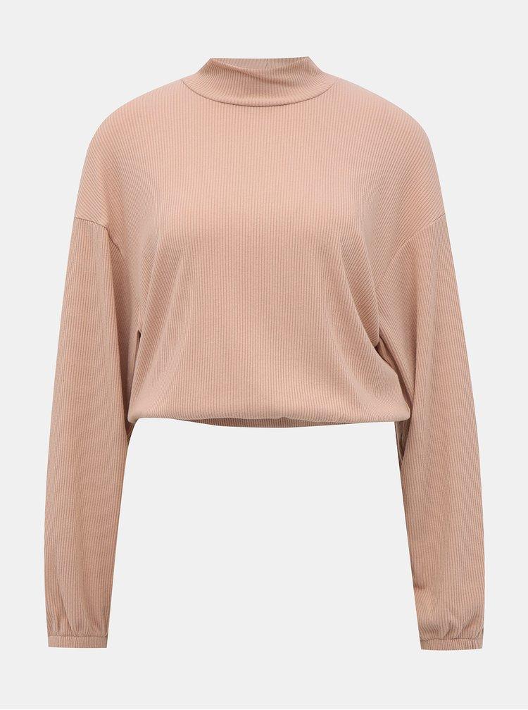 Růžový krátký lehký svetr TALLY WEiJL Lola