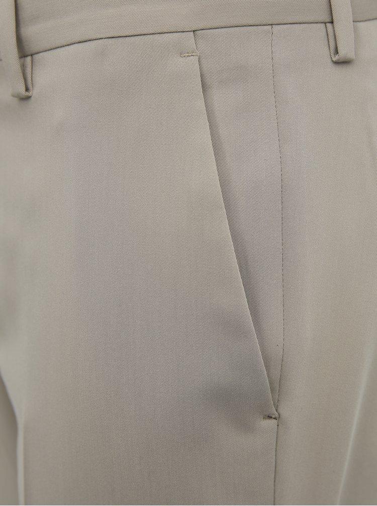 Béžové oblekové slim fit kalhoty Jack & Jones VIncent