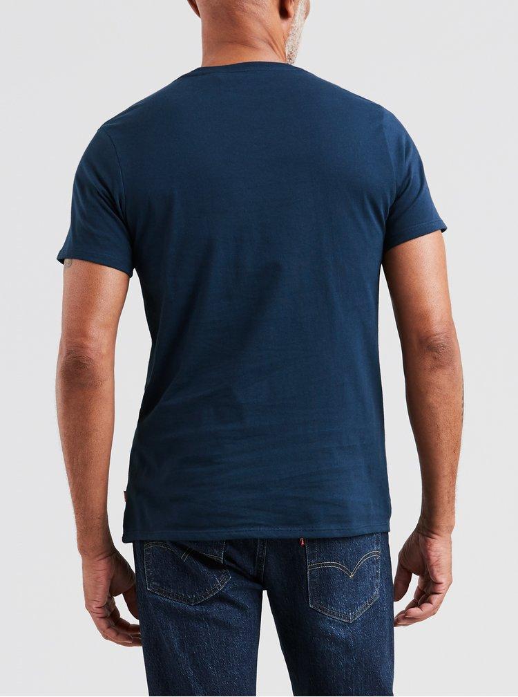 Tmavomodré pánske tričko s potlačou Levi's®