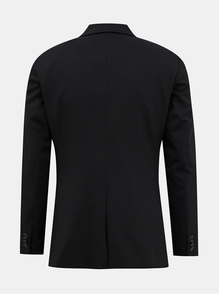 Černé oblekové slim fit sako Jack & Jones Vincent