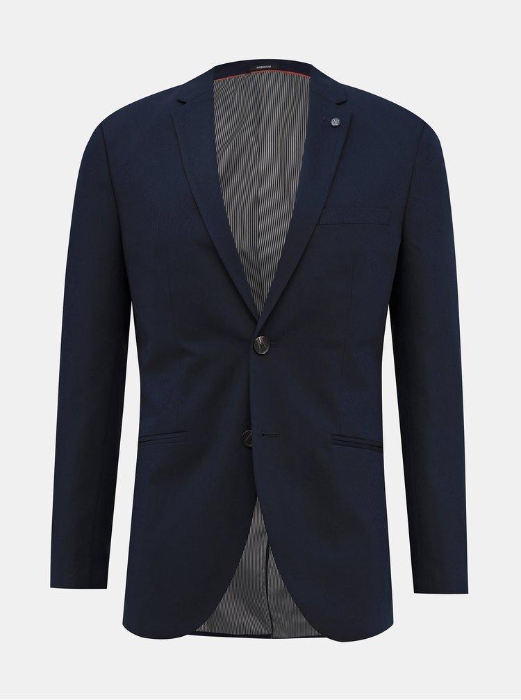 Tmavě modré oblekové slim fit sako Jack & Jones Vincent