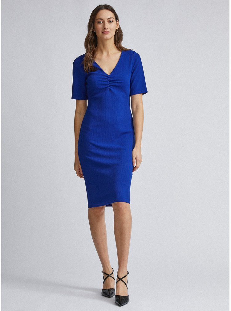 Tmavě modré pouzdrové šaty Dorothy Perkins