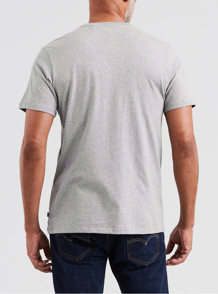 Tricou barbatesc gri cu imprimeu Levi's®