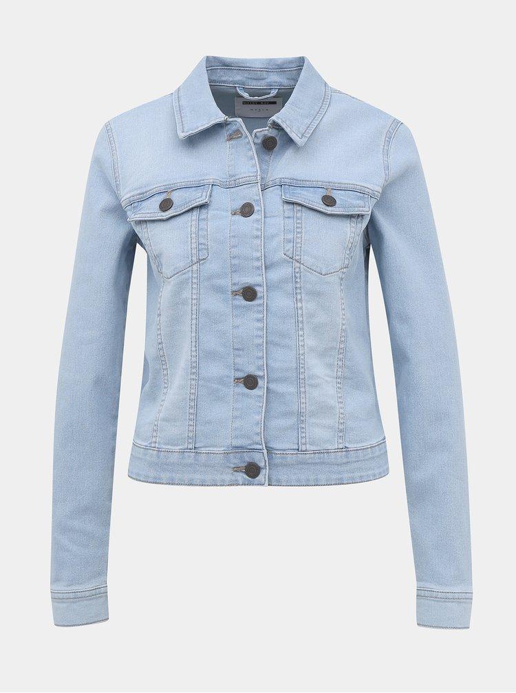 Jachete din denim pentru femei Noisy May - albastru deschis