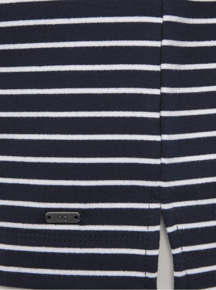 Tmavě modrá dámská pruhovaná basic mikina ZOOT Baseline Maja